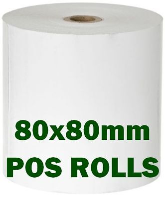 24/48/96 x Thermal POS Paper Rolls 80x80mm Wide Carton 80mm 80 mm 24x,48x,96x