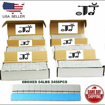 6 Box 1/4 Oz Gray Wheel Weights Stick-On Adhesive Tape 54 Lbs Lead-Free