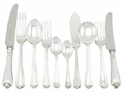 Vintage Sterling Silver Canteen of Cutlery for 8 - 80 pieces - Post-1940