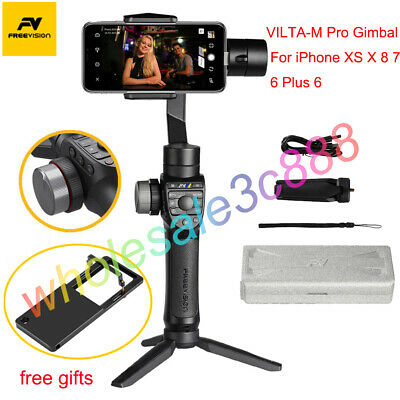 Freevision Vilta-M Pro 3-Axis Handheld Gimbal Stabilizer for iPhone X XS 8 7 6 +