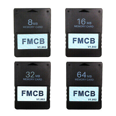 FMCB Free McBoot Card Memory Card For Sony PlayStation2 PS2 8MB 16MB 32MB 64MB