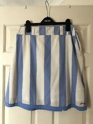 JOULES Girls Blue & White Striped Skirt Aged 11-12 Years VGC