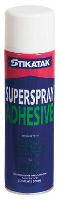 Stikatak Superspray Carpet Adhesive Spray 500ml - Use On Carpets Or Carpet Tiles