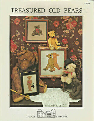 Treasured Old Bears Counted Cross-stitch Pattern Leaflet