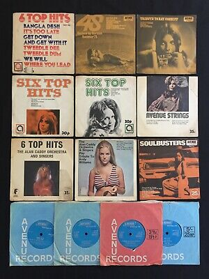 """AVENUE RECORDS Collection ALAN CADDY PICTURE SLEEVES 13 x 7"""" 45 VINYL LOT"""