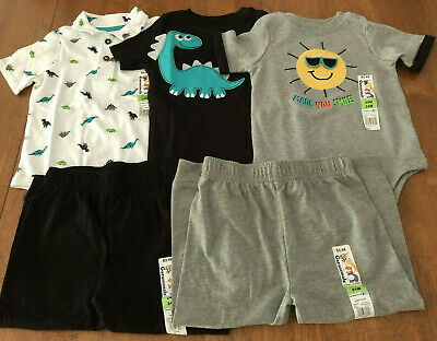 Garanimals Boys Size 24 Months Short Sleeve Bodysuits and Joggers New