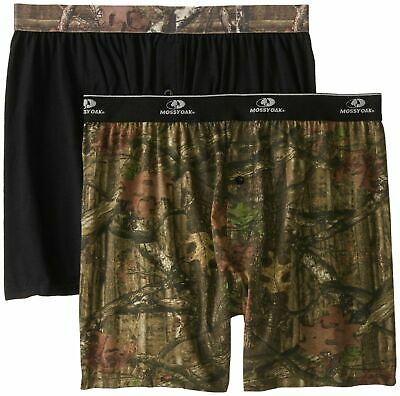 {2-Pack} Men's Mossy Oak Moisture Wicking Knit Boxer Shorts