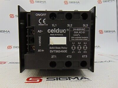 Celduc SVT965460E Solid State Relay 24 - 600 VAC 50 A
