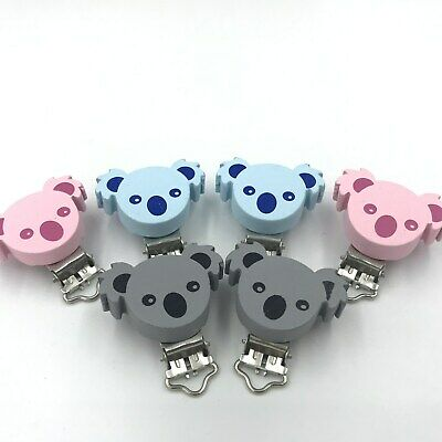 Baby Pacifier Clip Koala shape Wood Teether Accessories Soother Clasps Holders