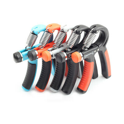 1x 10 40KG Adjustable Hand Grip Exerciser Wrist Forearm Muscle Sport Fitness