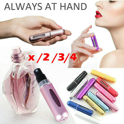 Perfume Atomiser Travel Portable Mini Refillable Bottle Scent Pump Spray x 2,3,4