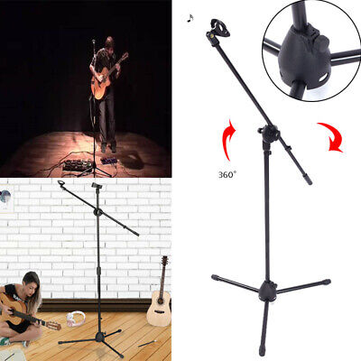 360-degree Rotating Microphone Stand Mic Clip Boom Arm Foldable Tripod Holder