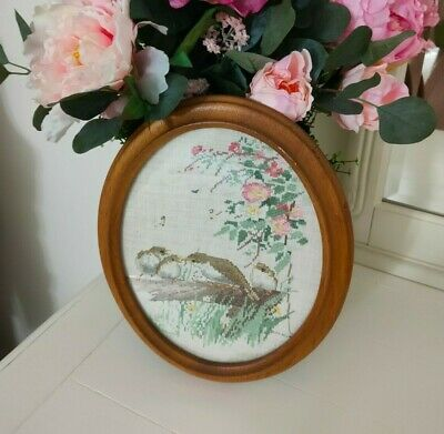 """""""Country Diary of an Edwardian Lady""""-design Edith Holden -Completed Cross Stitch"""