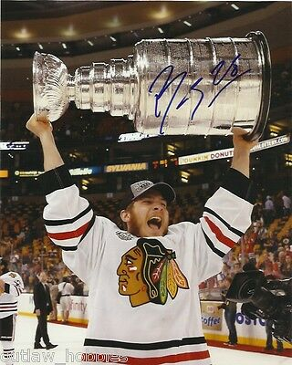 Chicago Blackhawks Ben Smith Stanley Cup Signed Autographed 8x10 Photo COA B