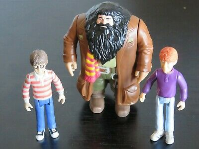 3 x 2002 Harry Potter (Ron Weasley, Harry + Rubeus Hagrid) Action Figures
