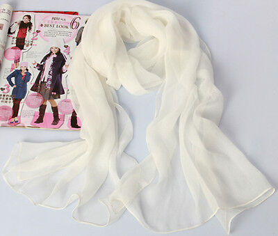 Womens Girl Candy Color long soft chiffon scarf Wrap Shawl Scarves