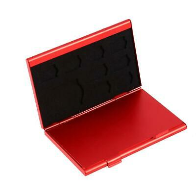 12 Slots Aluminium Storage Case Holder For Micro SD Memory Card & TF Card (Red)