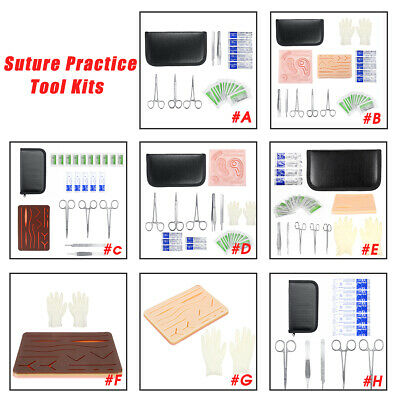 Suture Practice Training Kit Set For Medical Vet Students with Suture Pad Tools