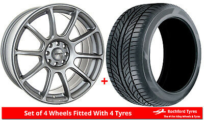 """Alloy Wheels & Tyres 17"""" Calibre Neo For Ford Transit Courier 14-19"""