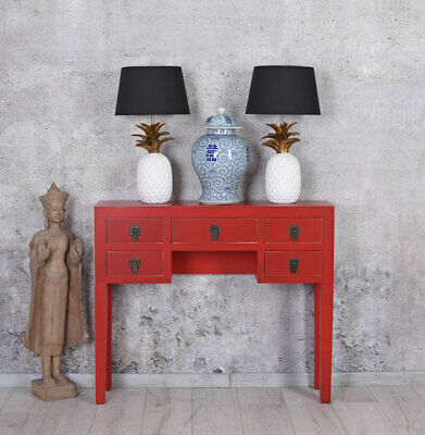 China Sideboard Red Jewelry Chest of Drawers Wall Side Table Console Feng Shui