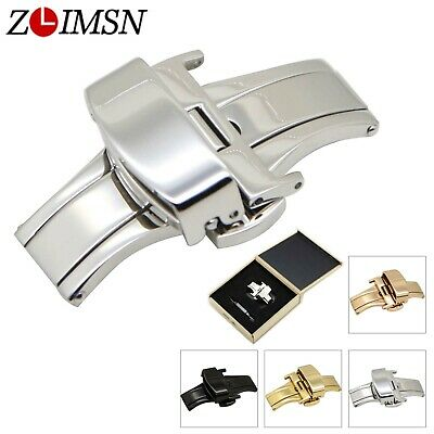 Stainless Steel Push Fold Deployment Clasp Watch Band Strap Buckle 16mm-24mm