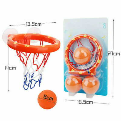 Funny Bath Toy Basketball Hoop Suction Cup Mini Gift for Baby Kids Toddlers Bath