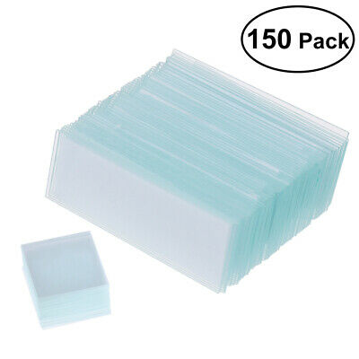 Professional 50PCS Blank Microscope Slides Accessories 100Pcs Cover Glass Lab