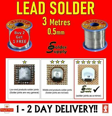 5 Metres Lead Free Solder Wire Wartons High Purity 99% Tin 0.7mm 2% Flux