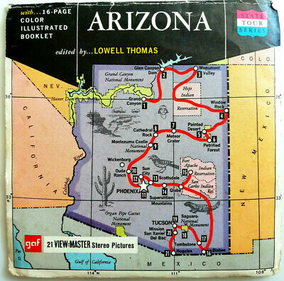 3x VIEW MASTER REEL / ARIZONA / THE GRAND CANYON STATE TOUR SERIES / USA / A 360