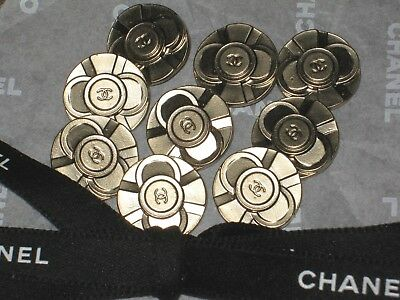 CHANEL  7 CC LOGO FRONT MATTE GOLD color  BUTTONS 14 MM / OVER 1/2'' NEW  LOT 7