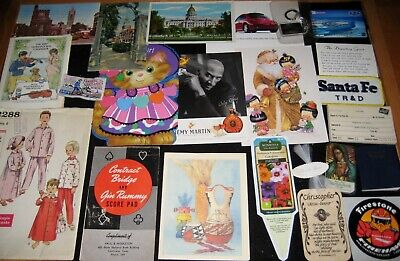 Lot AF vintage junk drawer  journal ephemera paper and more pack scrapbook fun