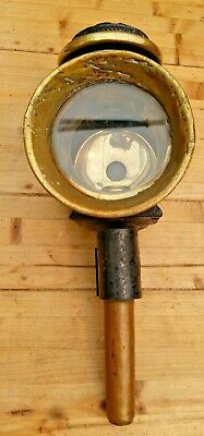 Large Victorian Brass & Metal Candle Carriage Lamp