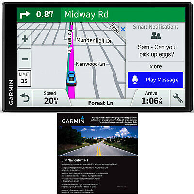 "Garmin DriveSmart 61 LMT-S 6.95"" GPS Smart Features Refurb + City Navigator Euro"
