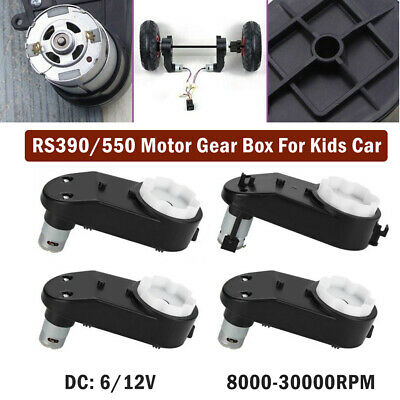 6 V/12V 8000-30000 RPM Electric Motor Gear Box For Ride On Bike Car Toys Kids