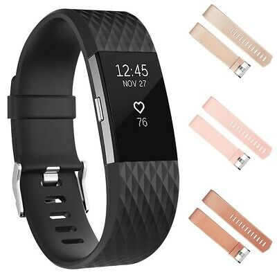 Adjustable Replacement Soft Sport Watch Strap Wrist Band For Fitbit Charge 2 Off
