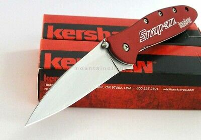 Kershaw Leek RED Snap On 1660RAT Flipper Assisted Opening Knife USA 1660RATSO