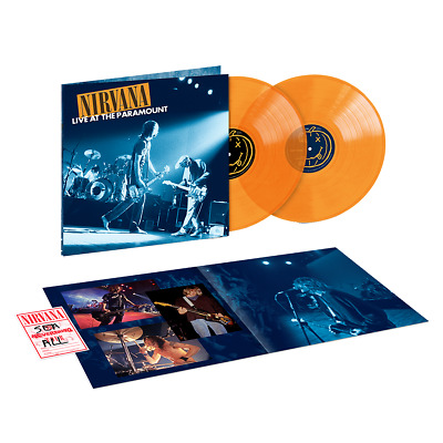 NEW Nirvana - Live At The Paramount Exclusive Limited Edition 2x LP Orange Vinyl