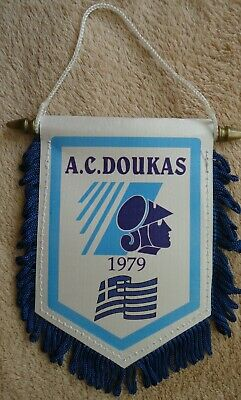 alter Wimpel Pennant A.C. Doukas 1979 Basketball Greece # 9,5 x 12 cm # 155
