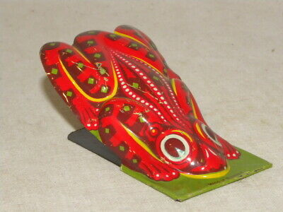 Jouet En Tole Clic-Clac Grenouille Vintage Tin Toy Clicker Frog Made In Germany