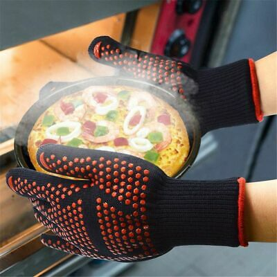 Heat Resistant Thick Silicone Gloves Cooking Baking Oven Gloves BBQ Grill Mitten