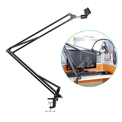 Neewer NB-39 Microphone Suspension Boom Scissor Arm Stand w/Clip for Broadcast