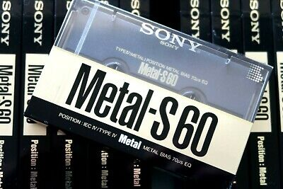 Sony Metal-S 60 Type Iv Blank Audio Cassette - Japan 1989