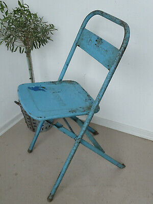U1054 Old Biergartenklappstuhl Metal ~Dourado~ Beer Garden Chair~Folding Chair