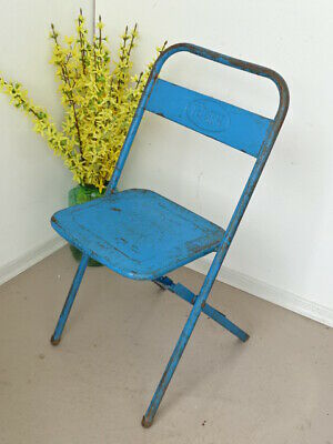 U1313 Old Biergartenklappstuhl Metal ~ Beer Garden Chair~Folding Chair