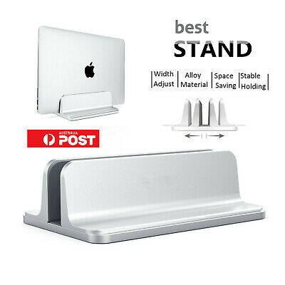 Aluminum Alloy Vertical Laptop Stand Adjustable Desktop Holder For Notebook LOT