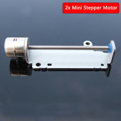 2x Mini Stepper Motor Linear Lead Screw Shaft Nut Slider Stage 2 Phase 4-Wire