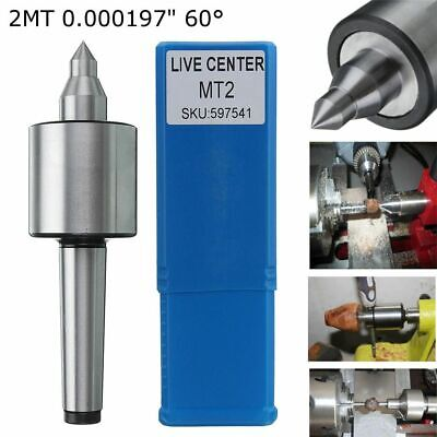 """Morse Taper Turning Tool Precision MT2 Lathe Live Center 0.000197"""" Long Spindle"""
