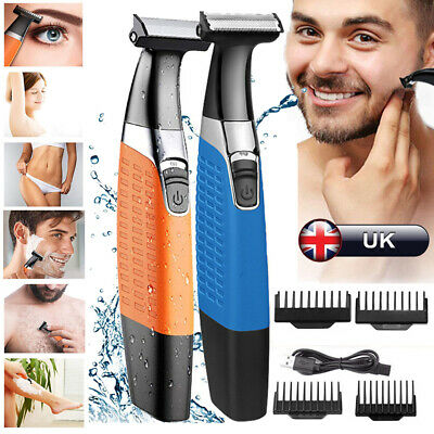 Rechargeable Hair Clipper Electric Men Cordless Body Hair Trimmer Beard Shavers