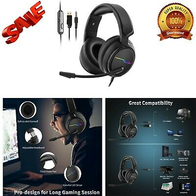 HUHD Wireless Headset 2.4Ghz Optical Stereo Noise Canceling Gaming S1K8