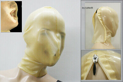 Auktionsmaske --- LATEXTIL --- BreathRegulate --- Size SMALL - mask hood rubber
